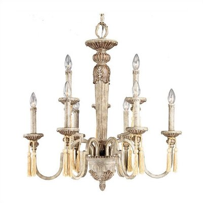 Mountain Mist 9 Light Chandelier with Decorative Tassels