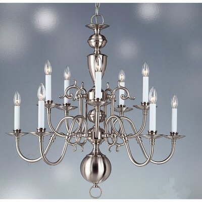 Living Well Brushed Nickel Williamsburg 10 Light Chandelier