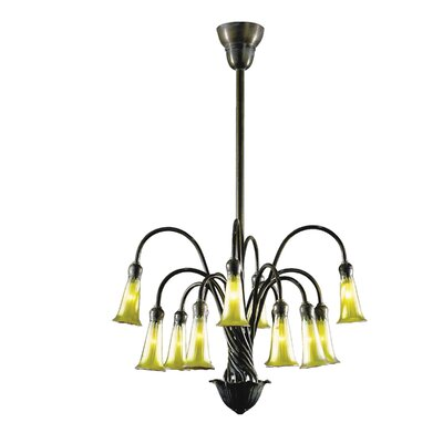 Dale Tiffany Gold Lily 12 Light Chandelier