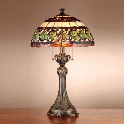 Dale Tiffany Victorianna Aldridge  Table Lamp in Antique Bronze with Gold