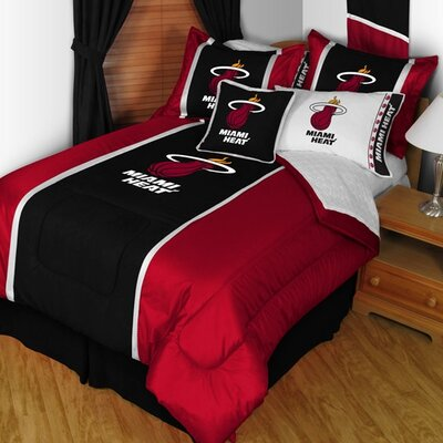 Sports Coverage Inc. Miami Heat Sideline Comforter in Black