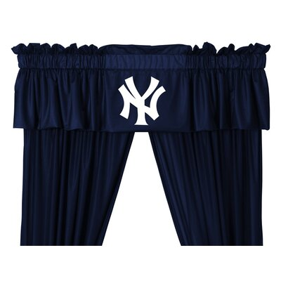 Sports Coverage Inc. MLB Rod Pocket Tailored Curtain Valance