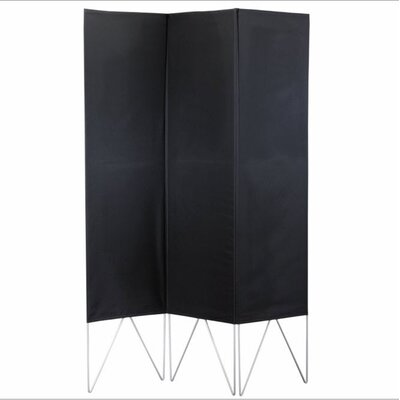 Adesso Vector Folding Screen in Black