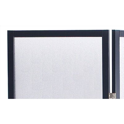 Adesso Toronto Folding Screen in Black Wood with Plexiglass Panels