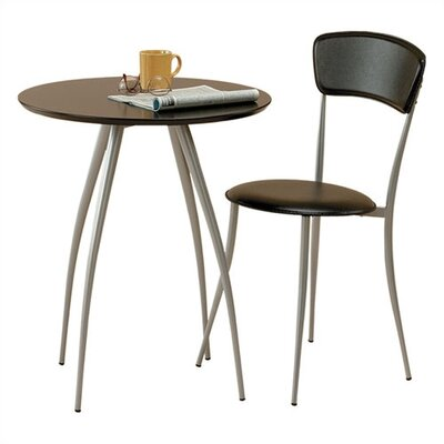 Adesso Cafe Table and Chair in Black (Chair Sold Separately)