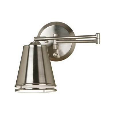 Kenroy Home Metro Swing Arm Wall Lamp in Brushed Steel