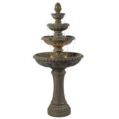 Kenroy Home Rialto Two Light Indoor Floor Fountain