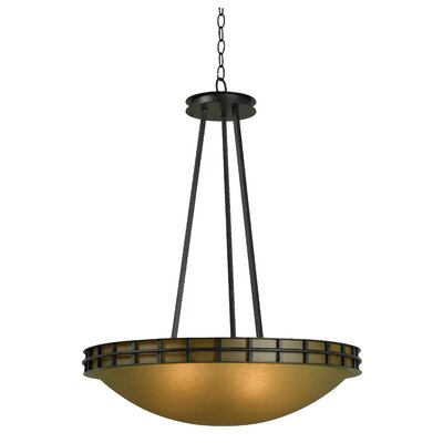 Kenroy Home Pane 5 Light Inverted Pendant