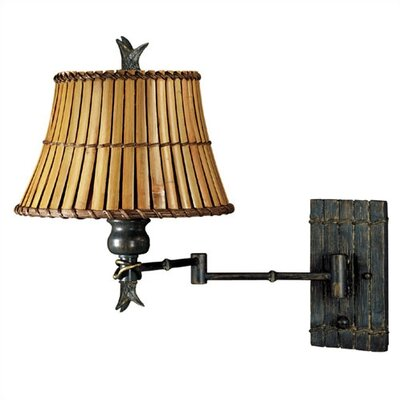 "Kenroy Home Kwai 16"" Swing Arm Wall Lamp"