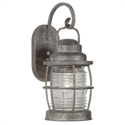 Kenroy Home Beacon  Medium Wall Lantern in Solid Brass Flint