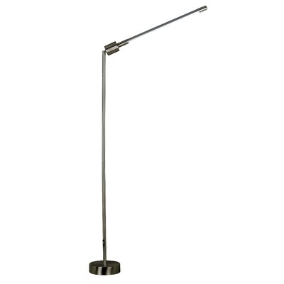 Kenroy Home Tublette Floor Lamp in Brushed Steel Finish