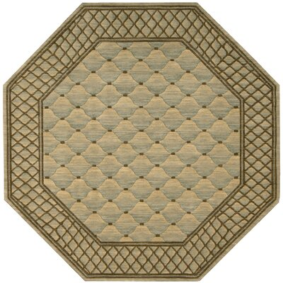 Nourison Vallencierre Tan/Light Green Rug