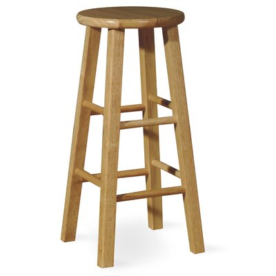International Concepts 29&quot; Roundtop Bar Stool (Natural)