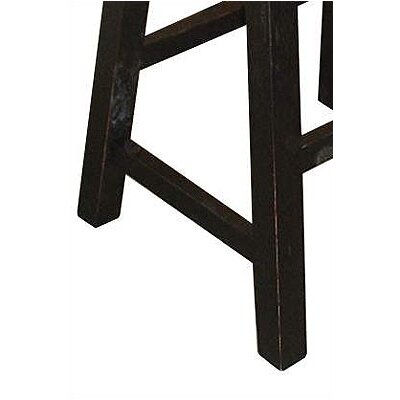 "International Concepts 24"" Saddleseat Counter Stool (Distressed Black)"
