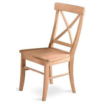 International Concepts Cross Back Side Chair (Set of 2)