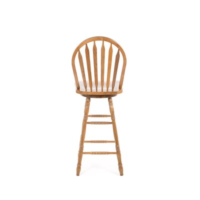 "International Concepts 30"" Arrowback Barstool (Oak) w/ Swivel"