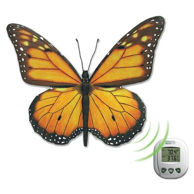 Springfield Precision Instruments Decorative Butterfly Thermometer with Display Unit