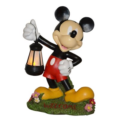 woods international disney mickey mouse holding lantern