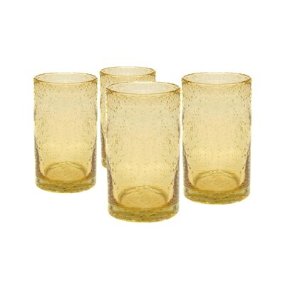 Iris Highball Glass in Citrine (Set of 4)