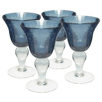 Iris Wine Glass in Slate Blue (Set of 4)