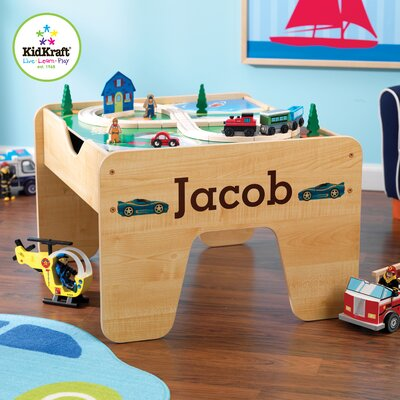Personalized 2-in-1 Lego and Train Activity Table