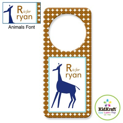 KidKraft Personalized Boy Animal Door Hanger