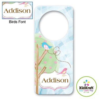 Personalized Birds Door Hanger