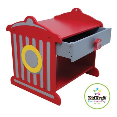 KidKraft Firefighter 1 Drawer Nightstand