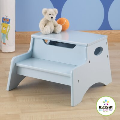 KidKraft Personalized Step N' Store Stool in Sky Blue