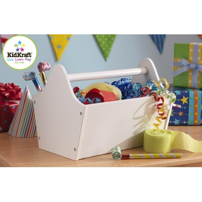 KidKraft Personalized Toy Box Caddy in White