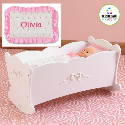 KidKraft Personalized Tiffany Bow Lil Doll Cradle