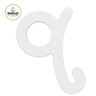 KidKraft Q Letter in White