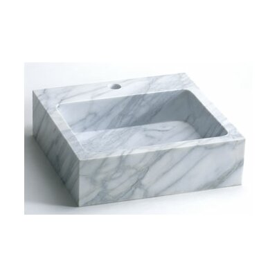 Ronbow Rectanglular Marble Vessel Bathroom Sink with Single Faucet Hole
