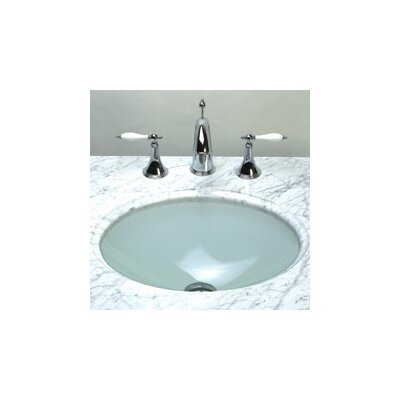 Undermount Oval Glass Vessel Bathroom Sink - 420819