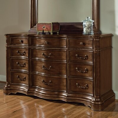 Wynwood Furniture Heritage Manor 12 Drawer Dresser