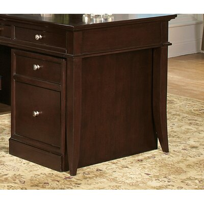 Wynwood Furniture Kennett Square Mobile Pedestal in Dark Chocolate