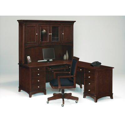 Kennett Square L-Shape Executive Desk with Hutch