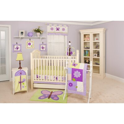 Pam Grace Creations Lavender Butterfly 10 Piece Crib Set