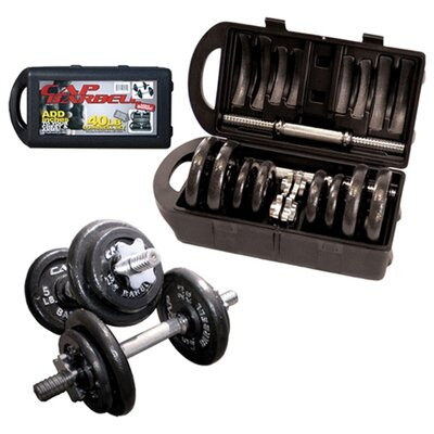 Cap Barbell 40 lbs Dumbbell Set