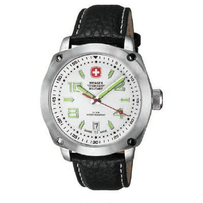 Outback Military Wrist Watch with White Dial and Black Strap
