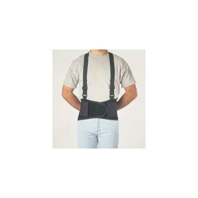 "Allegro Black Economy Belt 8"" Back Support W/Suspenders Size Small 26"" To 32"""