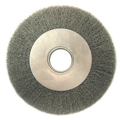 "Anderson Brush Medium Face Crimped Wire Wheels-DA Series - da6 .006 crimped wire wheel 2"" arbor ho"