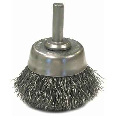 "Anderson Brush Crimped Wire Cup Brushes-NH Series-Hollow End - nh16s 1-3/4""x.0118/ss wire end brush"