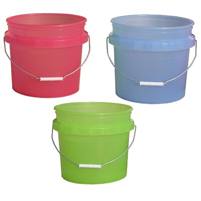 Encore Home Entertainment 3.5 Gallon Plastic Translucent Pails 31448-200534