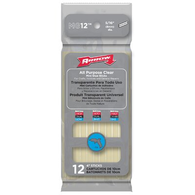 "Arrow Fastener 12 Count 4"" All Purpose Mini Glue Stick"