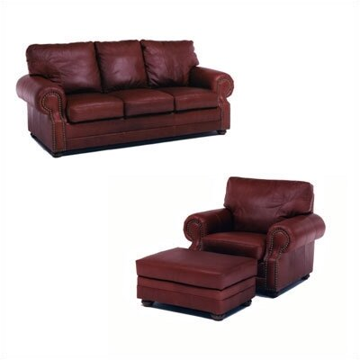 Distinction Leather Chelshire Leather Sleeper Sofa Living Room Collection