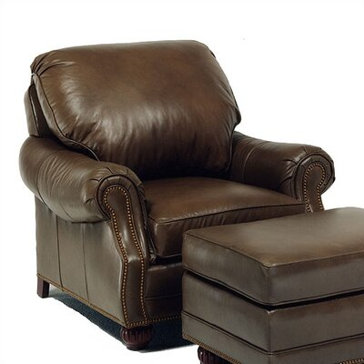 Palmer Leather Chair and Ottoman