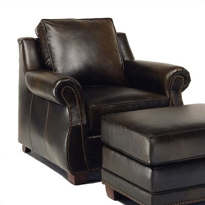 Amber Leather Chair and Ottoman
