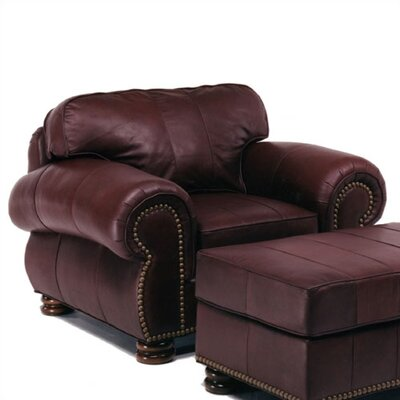 Distinction Leather Beaumont Leather Chair and Ottoman