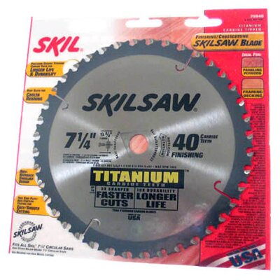 Bosch Power Tools SkilSaw® Titanium Finishing & Crosscutting Saw Blade 75940